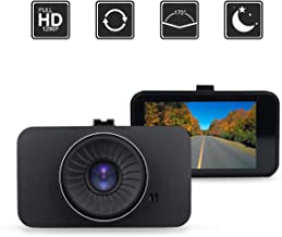 Dash Camera, AMCSXH HD Full 1296P 170 Degree 3'' IPS Screen Dashboard Camera Recorder, with WDR,G- Sensor, Motion Detection, Parking Monitoring, Loop Recording.