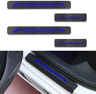 Fibra di Carbonio 4D Battitacco Auto Esterno Batticalcagno per 630i 645ci/650i/M6 E63 E64 Adesivi delle Soglie delle Porte in Fibra di Carbonio 4 Pezzi