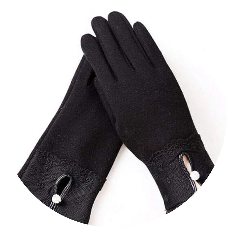 Touchscreen Mittens Design Adult Female Drill Gloves Winter Women Guantes