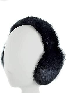 Genuine Black Rabbit Fur Earmuffs with Soft All Fur Non Adjustable Band, Winter Fashion Ear Warmers, Perfect Elegant Women's Luxury Gift