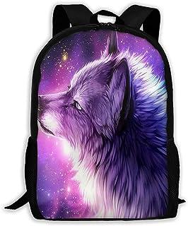 NA - Mochila para niñas y niños, diseño de galaxia, lobo con cremallera, mochila de viaje, bolsa de gimnasio para hombre y mujer