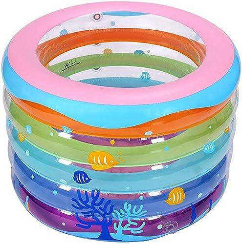 NBgy Piscine Gonflable Familiale, Vert épais, Piscine Gonflable Ronde, Piscine pour Enfants, Piscine Pliante pour Enfants, 106  75cm
