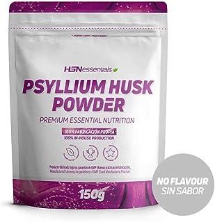 Psyllium Husk de HSN | Cáscara de Plántago | Fuente de Fibra Soluble, Combate el Estreñimiento, Mejora el Tránsito Intestinal | Vegano, Sin Gluten, Sin Lactosa, En Polvo, Sabor Natural, 150 gr