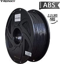 ABS 3D Printer Filament, Dimensional Accuracy +/- 0.03 mm, 1 kg Spool, 1.75 mm, Black