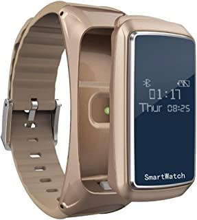 Bovake Fitness Tracker, Monitor de frecuencia cardíaca Tracker, Reloj Inteligente Bluetooth Auriculares presión de oxígeno en Sangre Monitor de Ritmo cardíaco podómetro