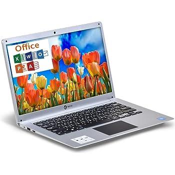 NAT-KU PC ノートパソコン/Windows10Pro/日本語キーボード/Office2019/メモリ4GB/SSD64GB/14.1インチ/Wi-Fi/WEBカメラ/Celeron-N3350