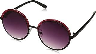 Fastrack Gradient Round Women's Sunglasses - (NBC070BR2F 55 Brown Color Lens)
