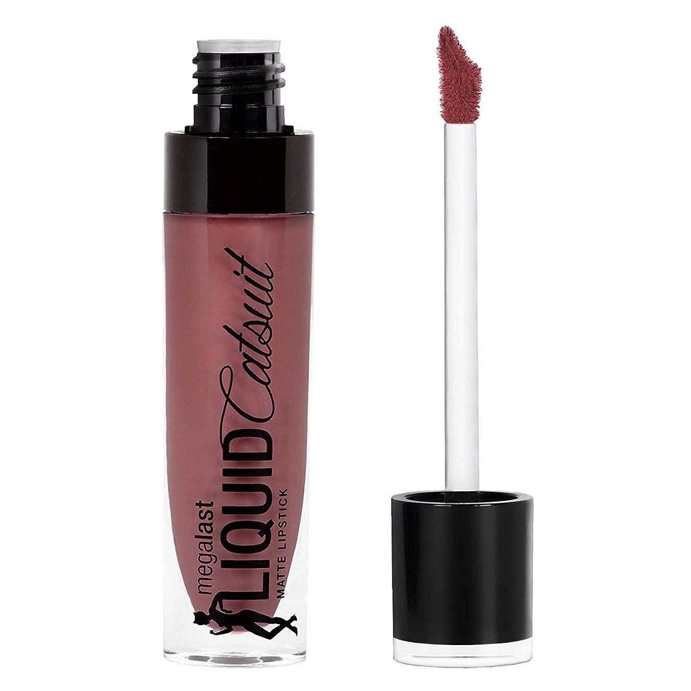 宝石スーパーマーケット窒息させるWet n Wild Megalast Liquid Catsuit Matte Lipstick, Rebel Rose, 6g