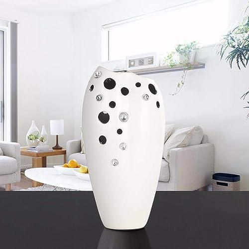 JRFBA-Décorations pour la maison Creative Cascade Stone Vase Salon Mode Moderne de Fleurs Simples décorations de céramique,e