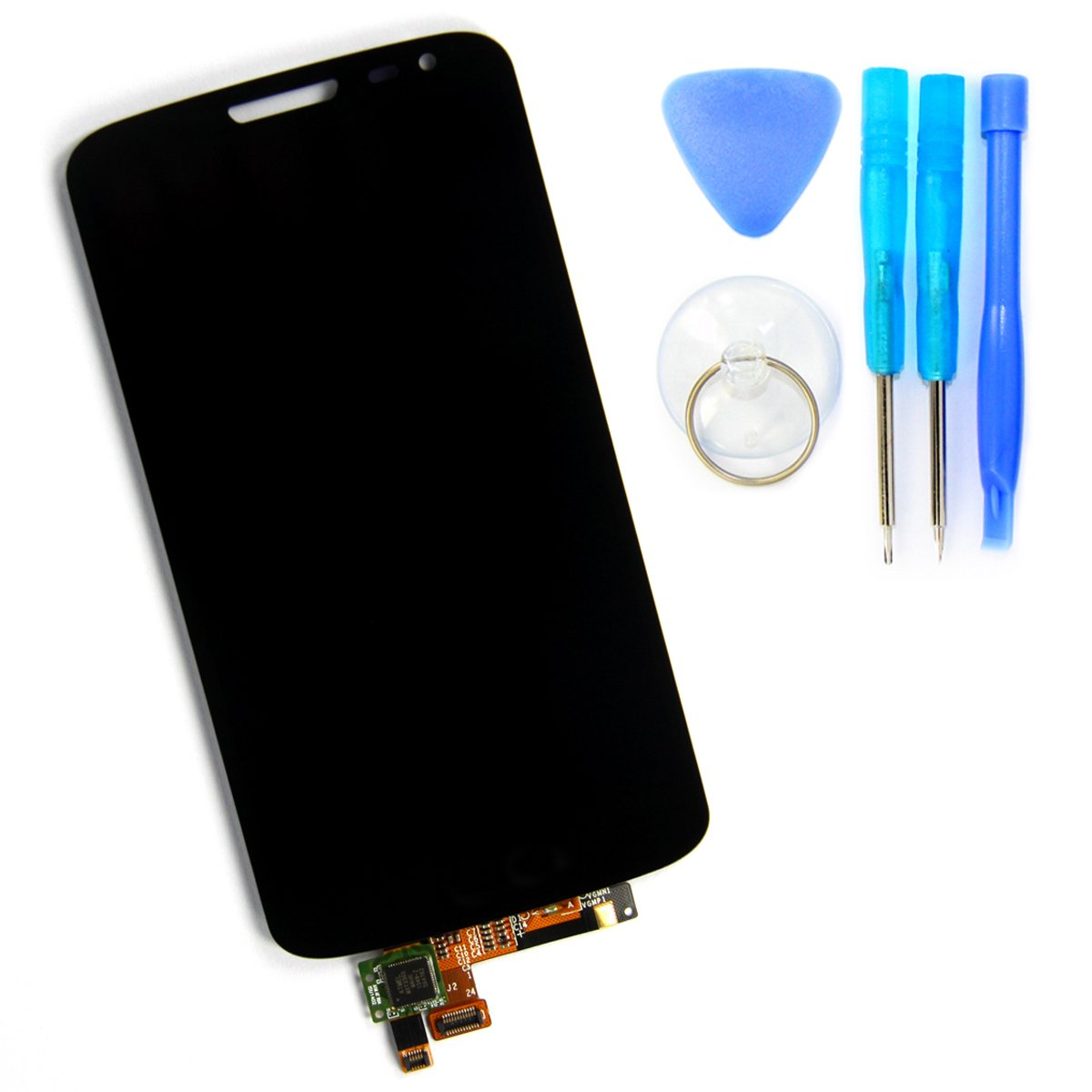 Skiliwah LCD Display Touch Screen Digitizer Assembly for LG G2 Mini D620 D625 + Tools (Black)