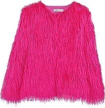 Faux Fur Parka Coat Womens Plush Long Sleeves Winter Thick Warm Jacket Overcoat Fashion Elegant Outwear Daorokanduhp