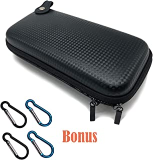 Carrying Case Portable Protection Hard Case Mini Universal Portable Bag Carbon Fiber Pattern with Hook Clip Key Chain for Kanthal Wire, E-Cigarette, Vapes, Vape Mods and E-Liquid