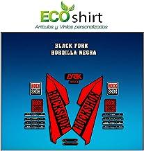 Ecoshirt MJ-IL88-JHGH Stickers Fork Rock Shox Lyrik 2016 Am110 Fork Aufkleber Decals Autocollants Adesivi Forcela Gabel, Red