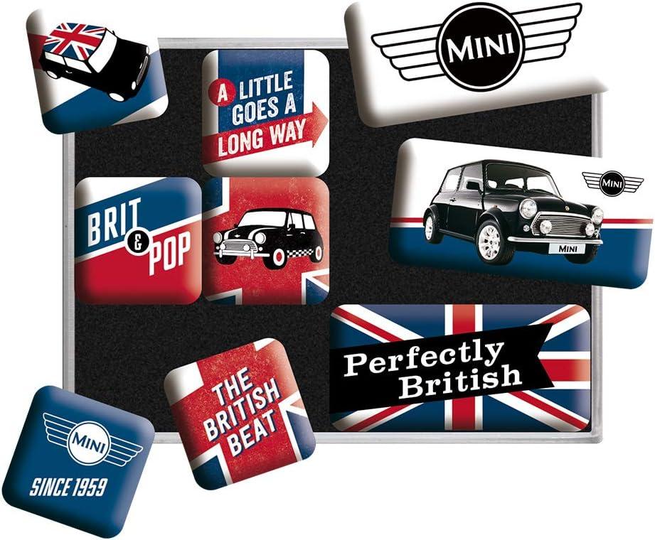Nostalgic-Art 83079 At the price of surprise Mini-Union Jack 9pcs x 9.3 Magnet High order 7 Set