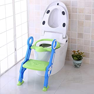 $22 » Potties Seats Baby Child Toilet Trainer Seat Step Stool Ladder Adjustable Training Chair