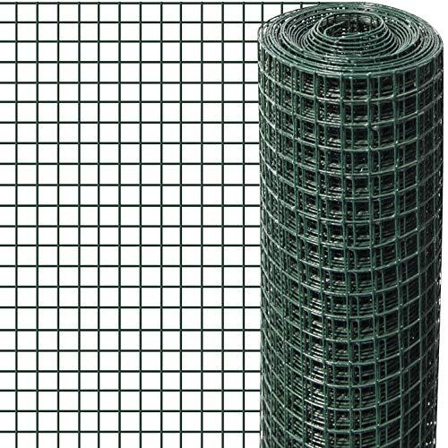 Windhager Drahtgitter kunststoffummantelt, Wühlmausschutz für Hochbeet, für Volieren, als Gehege für Kleintiere, Grün, Maschenweite 6,3 mm, 2,5 x 0,5 m x 0,9 mm, 79067