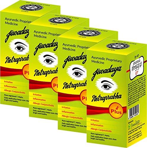 Jiwadaya Herbal Netraprabha Plus Ayurvedic Eye Drops 10Ml - 4 Bottles