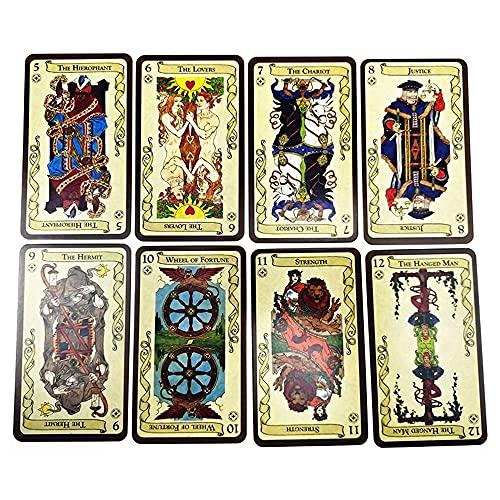 Tarot de carte de tarot Lokn plate-forme Divination futur destin Prédiction Oracle Cartes Astrologie Mystérieuse Jeu de société de carte de tarot Set, pour débutants ou expérimentés