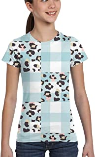 Girl T-Shirt Tee Youth Fashion Tops Cat Head Cartoon