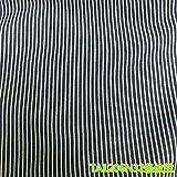 AIBAO Denim-Stoff, Baumwolle, blau und weiß gestreift,
