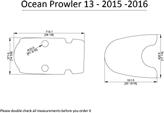 ZY 2015-2016 Ocean Prowler 13 Kayak Boat EVA Decking Mat Pads Kit 1/4