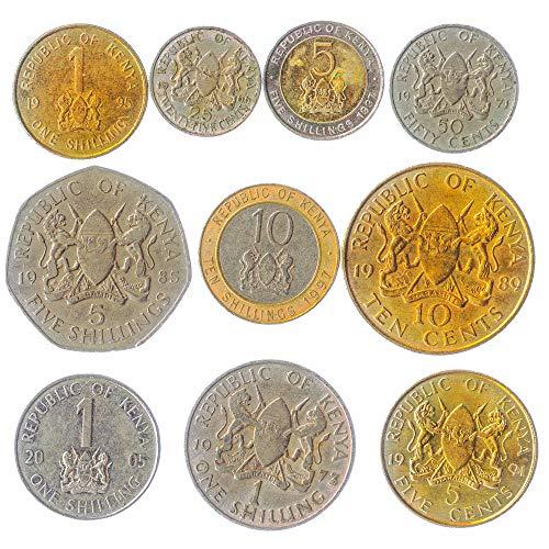 Lotto Di 10 Monete Del Kenya Africa Orientale Dal Kenya Vecchie Monete Da Collezione. Per La Vostra Moneta Bancaria, Portaoggetti Monete O Album Di Moneta
