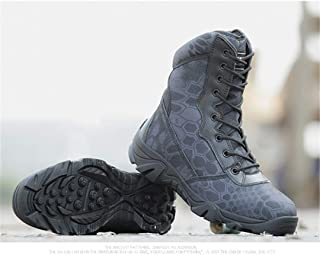 Military Boots Men Black Python Combat Shoes Army Hiking Tactical Shoes Outdoor Hunting Shoes