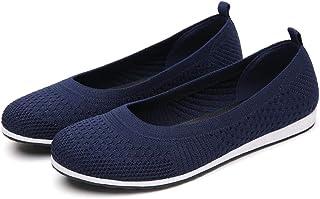 حذاء باليه نسائي سهل الارتداء ومسامي للمشي
