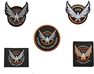 5 Pieces Tom Clancy`s The Division Agent SHD Logo Military Hook Loop Tactics Morale Embroidered Patch (color6)