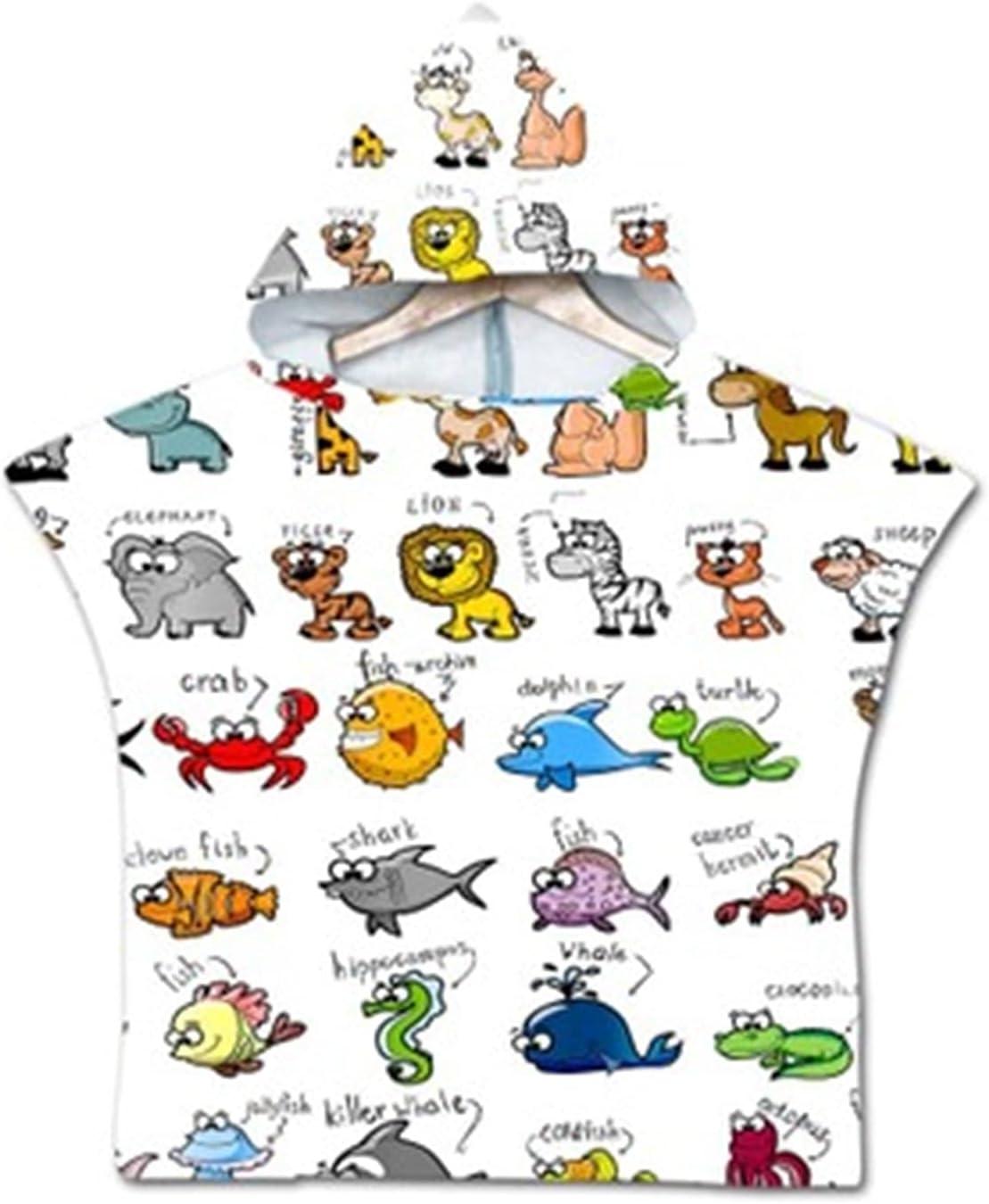 QIUMIN Animal Printed Cartoon Kids Towel Baby Beach Children Long-awaited Max 84% OFF Hoo