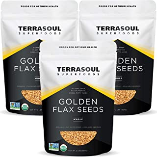 Terrasoul Superfoods Organic Golden Flax Seeds, 6 Lbs (3 Pack)