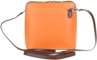 Girly Handbags - Borsa in vera pelle di serpente, rigida, borsa da spalla in vera pelle italiana