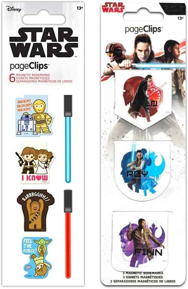 Bookmarks Star Wars Office Supplies Set Star Wars School Supplies Bundle - 9 Pc Star Wars Page Clips for Kids, Teens, Adults Star Wars (Star Wars Office Accessories).