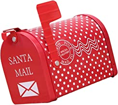 Baoblaze Kerst brievenbus Xmas Post Box Nieuwjaar brievenbus Wraps bericht brievenbus ijzer - Polka Dot