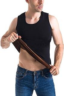 Men's Slimming Sleeveless Vest Warm Winter Fleece Lined Underwear Thermal Undershirt Tank Top