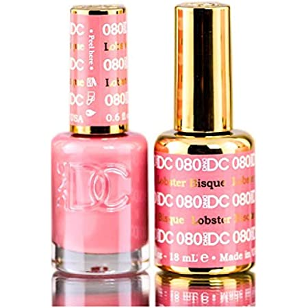 Amazon Com Dnd Dc Pinks Gel Polish Duo Gel Lacquer 0 5 Oz Matching Nail Polish Color 0 5 Oz Daisy Nails With Bonus Side Glitter Made In Usa Lobster Bisque 080 Beauty