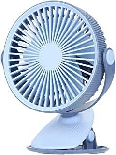 SHANGRUIYUAN-Mini Fan Multifunction USB Mini Fan Clip Electric Fan Air Cooler Portable Fan for Home Student Dormitory Office Fan (Color : Blue)