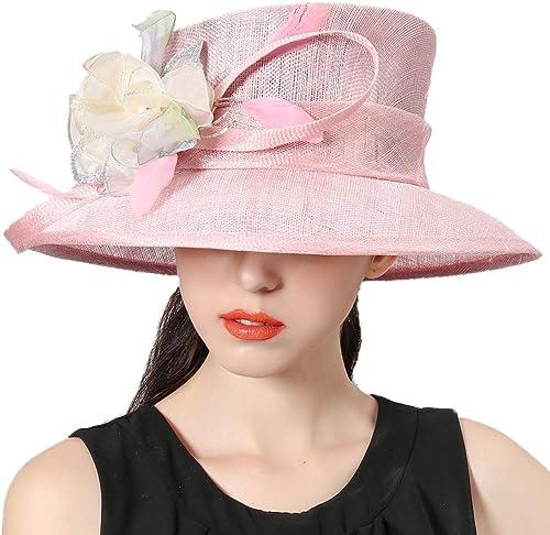 Le Printemps et la Saison Estivale Rose La Dame de la Fleur de Gaze Net Hat Travel Sun Hat Chapeau