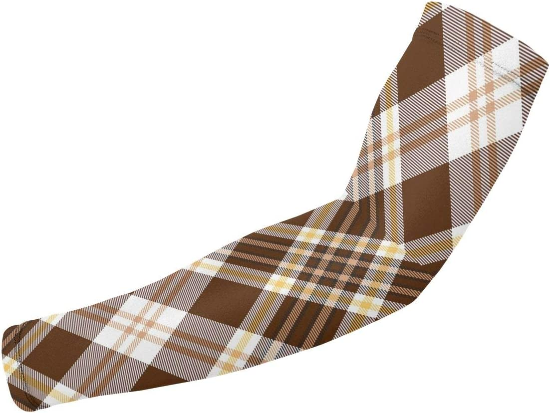 Liumong Scots Style Tartan Plaid Printed Direct store Cool BrownThemed 2021 model Sport