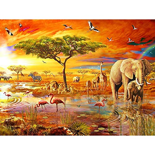 EQWR Jigsaw Puzzles 1000 Pieces for Adults, Elephant Forest Puzzle Kids Brain Toy Education Home Decor Children's Puzzle Toy(750500Mm)