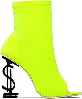 Cape Robbin Infinite All The Riches High Heel Money Sign Emblem $ Heel Open Toe Bootie