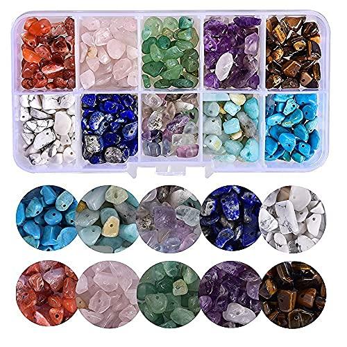Cuentas de piedras preciosas de colores, cuentas de piedra natural, piedras mixtas irregulares, 10 colores