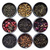 Heavenly Tea Leaves 9 Flavor Variety Pack, Loose Leaf Tea Sampler, 9 Assorted Loose Leaf T...