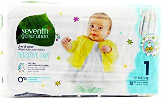 Seventh Generation Free & Clear Diapers - Size 1-40 ct