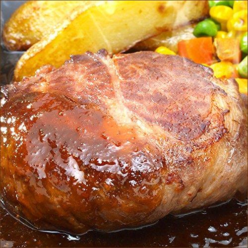 北海道産 牛肉 牛霜降り ハンバーグ 10個セット (おろしソース) 惣菜 肉の山本 北海道 お取り寄せ