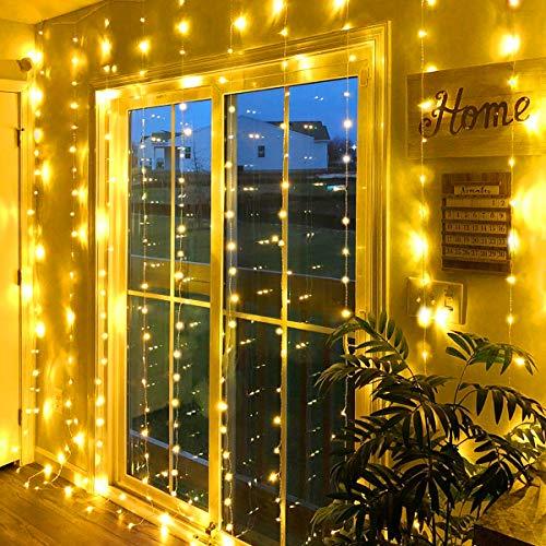 String Light, StillCool Lichterketten 3M 300 LED USB Lichtervorhang IP68 Wasserdicht mit Timer Fernbedienung 8 Modi für Party deko Hochzeit schlafzimmer Warmweiß