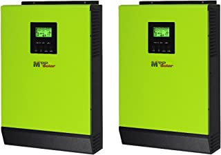 MPP SOLAR Hybrid or Off-Grid 4800w Pure Sine Wave Split Phase Power Inverter with mppt Solar Charger 80A DC 24V AC Output 120V 240V with 60A Utility Charger 50HZ or 60HZ