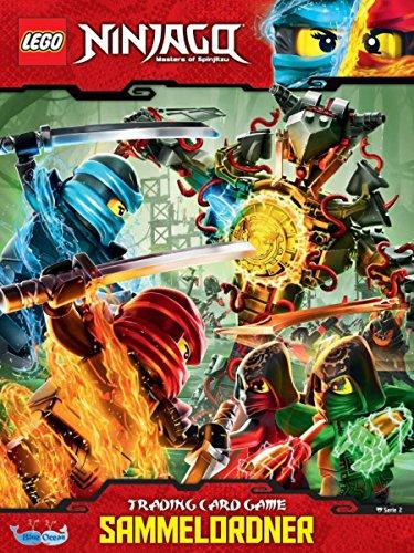 Lego Ninjago Serie 2 Sammelkarten - Sammelmappe + 10 Booster + 2 limitierte Gold Karte Legendärer Kai + Weiser Wu