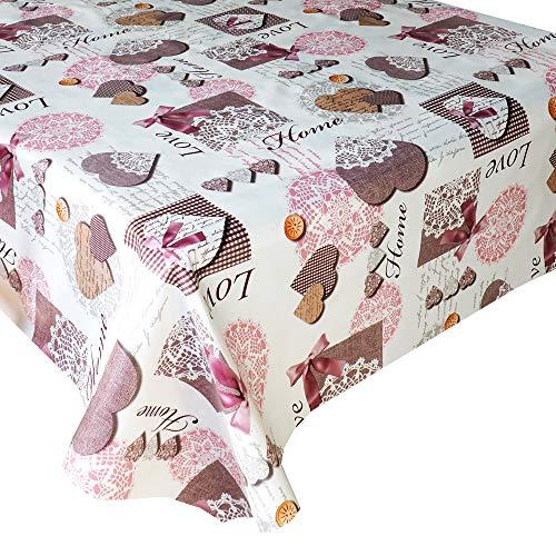 Mantel Hule Love · Mantel Antimanchas Resistente y Lavable · Mantel Mesa Rectangular en PVC · Hules para Mesas · Múltiples Diseños y Económicos · Medidas ( 140/160 cm x 140 cm )