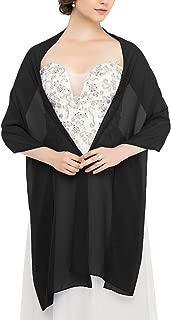 JAEDEN Stola Chiffon Schal für Brautkleid Abendkleider Ballkleider Hochzeitskleider in verschiedenen Farben 45cmx220cm